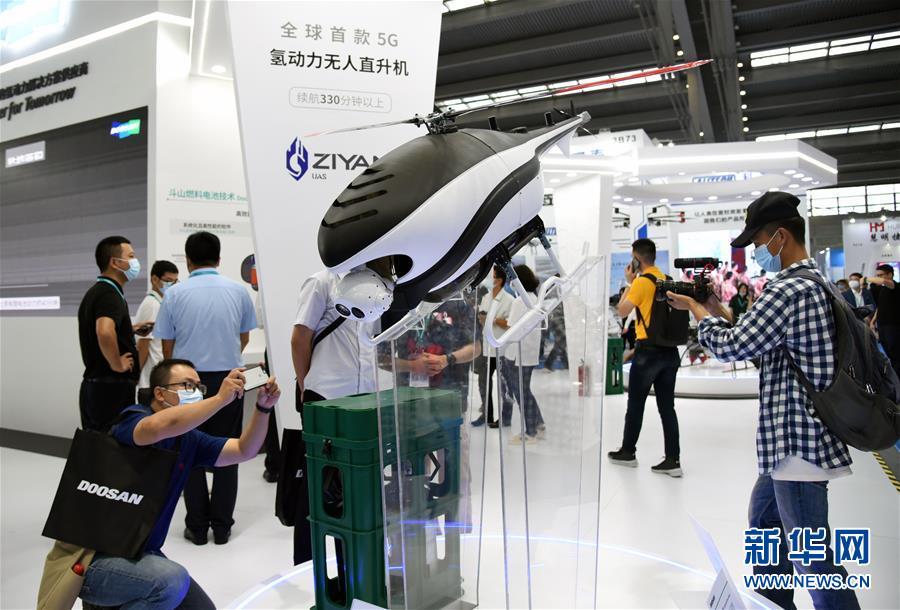 千余架无人机亮相2020世界无人机大会图片