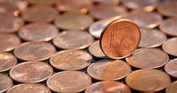 """一个欧元硬币误用了两个欧分的""""身体"""""""