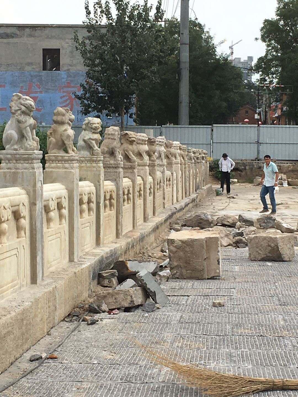"""河北古桥被指""""破坏式""""翻新 文物单位责令停止施工图片"""