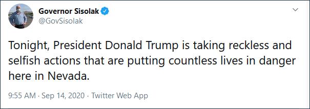 特朗普违规召开竞选集会 州长怒了