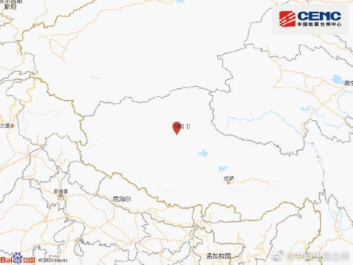 西藏那曲市尼玛县发生3.1级地震图片