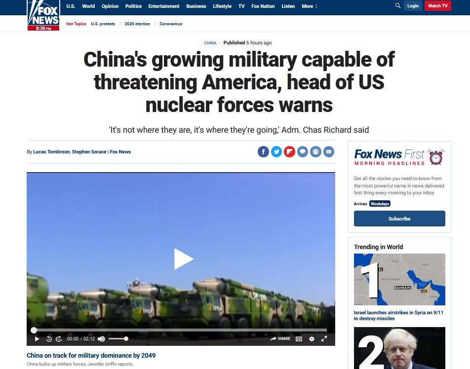 美军核力量指挥官居然对中国发出了这种感叹!图片