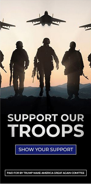 """""""支持我们的军队""""/资料图自Shutterstock.com网站"""