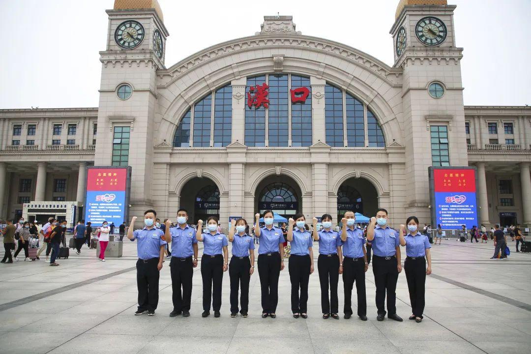 """汉口车站:全力保障战""""疫""""生命线畅通图片"""