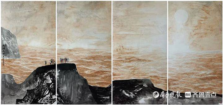 """""""大河奔腾""""济南市美术家黄河写生作品展即将在济南市美术馆开幕"""