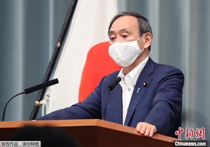 资料图:日本自民党总裁菅义伟。