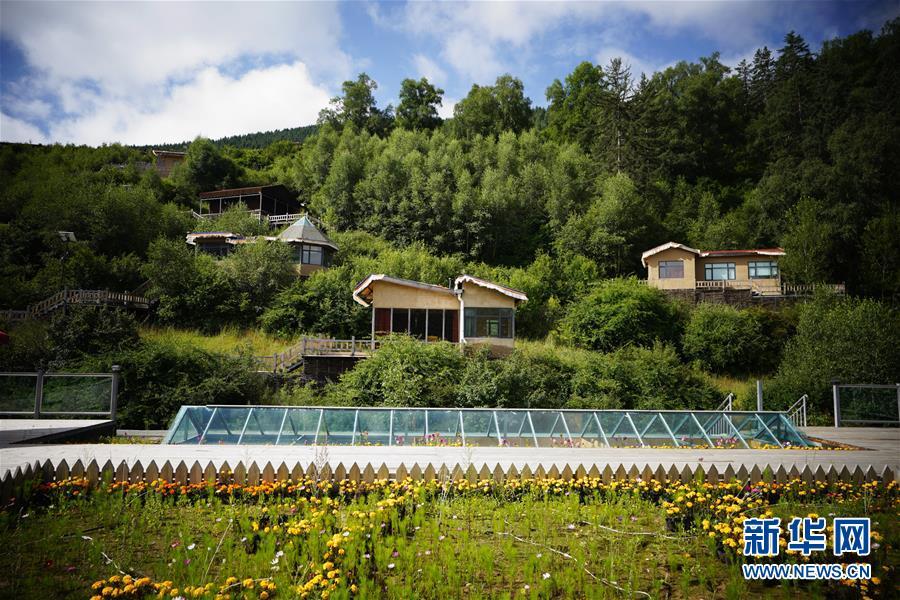 这是8月13日拍摄的甘肃省甘南藏族自治州卓尼县博峪村一景。新华社记者 邢广利 摄