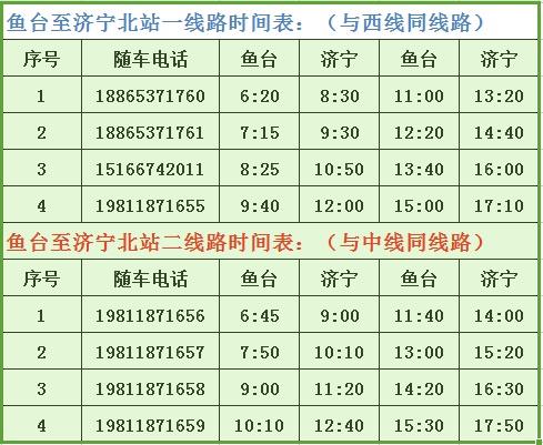 10元/人!从济宁北站到鱼台的定制直通车将从凯里开通