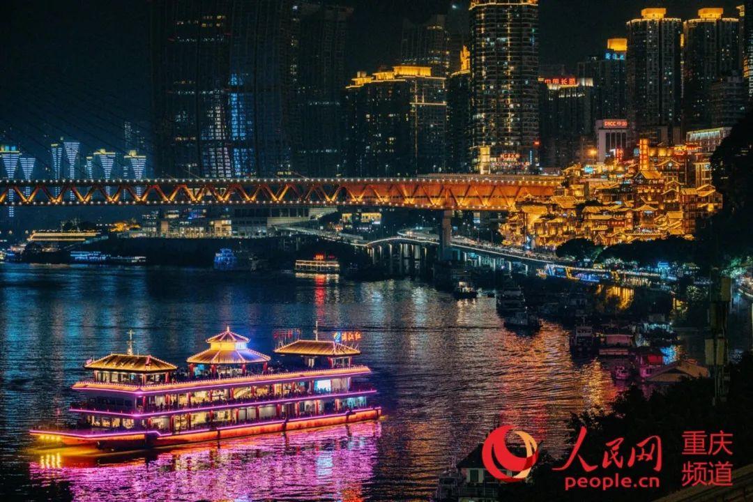 江庆两重备景游夜游宽大受。喜好客邹乐 摄。