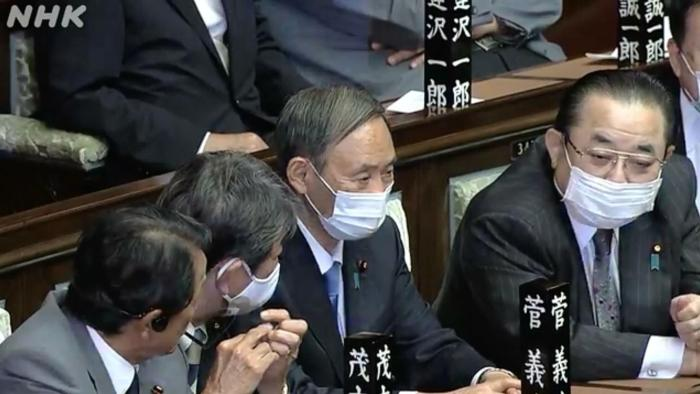 本地时候9月16日下昼,日本召开暂时国会举行首相指名推举。(图片泉源:NHK直播截图)