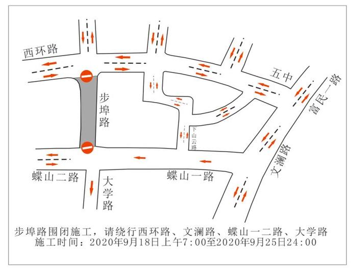 关于步埠路沥青摊铺道路围闭的通告