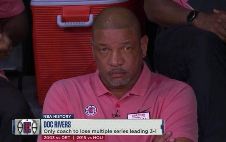 3次3比1领先被翻盘,里弗斯成NBA第一人图片