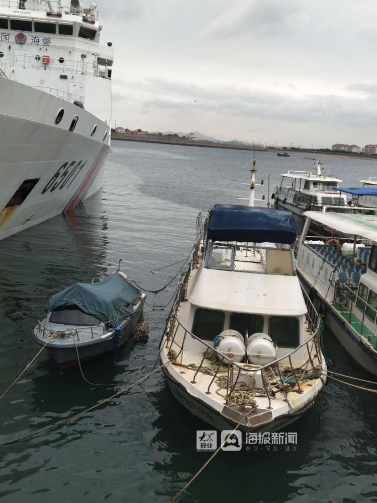 钓鱼船在胶州湾口近海处求救!执法队员紧急协调救援