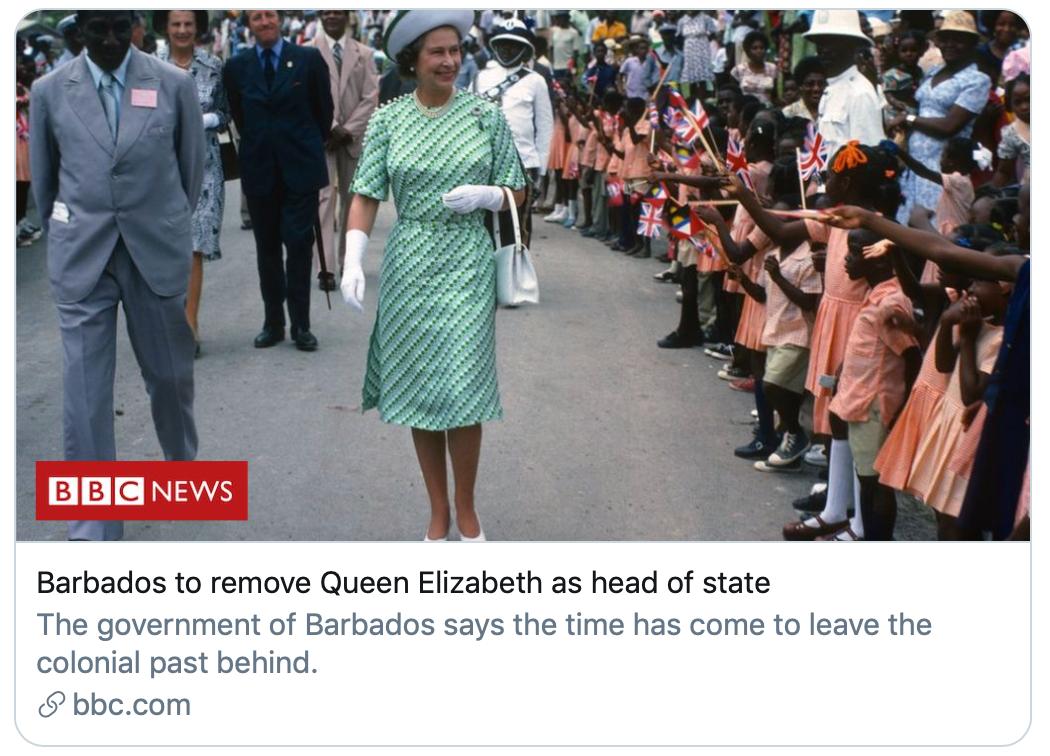 """巴巴多斯要""""炒了""""英女王?原来这些国家的元首都是英女王图片"""