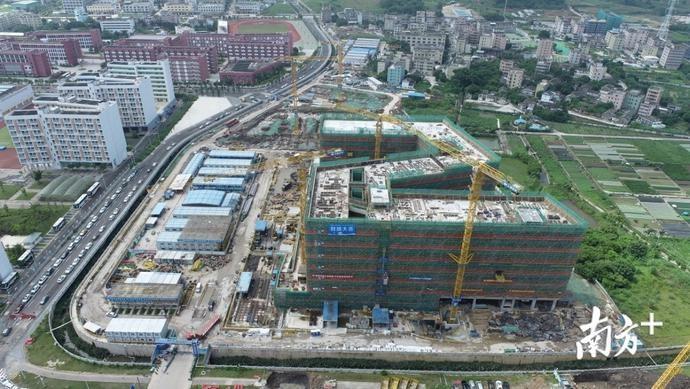 深圳技术大学健康与环境工程学院楼封顶