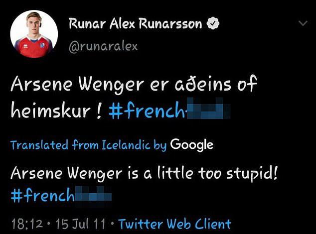 英媒:枪手引援目标鲁纳尔森删除多条辱骂温格推特