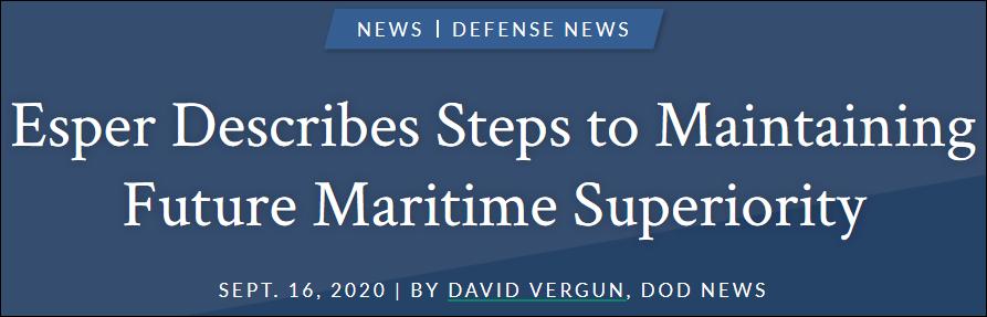 """美防长:美海军正打造""""未来舰队"""" 中国也无法匹敌图片"""