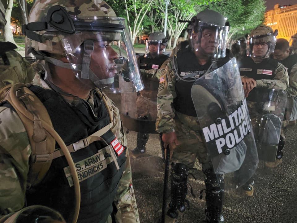 5月底,特区国民警卫队进驻华盛顿特区 特区国民警卫队图