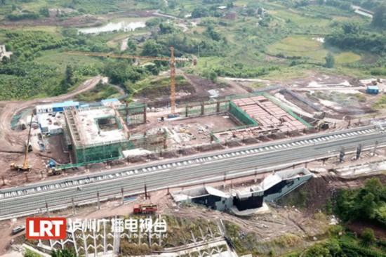 明年6月开通运营 川南城际铁路泸州段正线完成年度投资7.48亿元