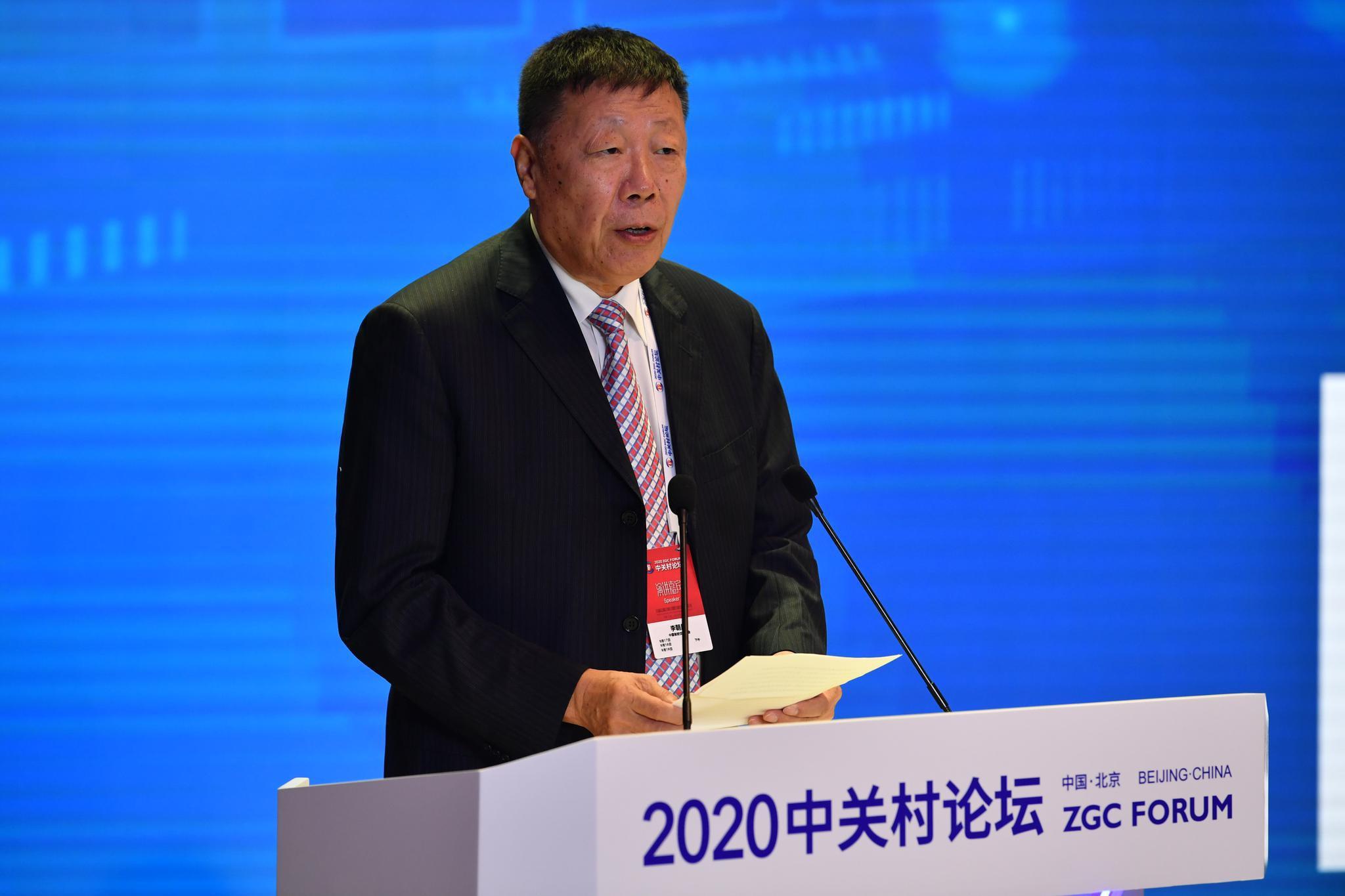 中国智能交通协会理事长李朝晨。摄影/新京报记者 吴江