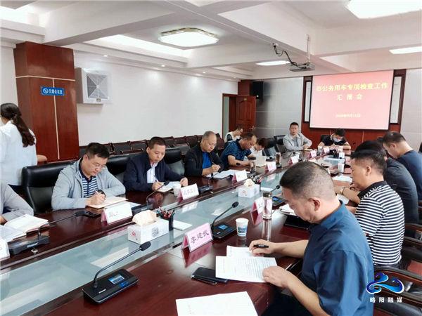 汉中市检查组对略阳公务用车情况开展专项检查