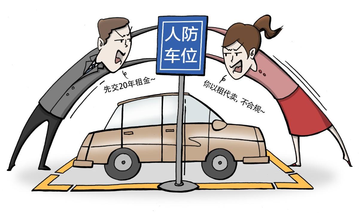 以租代售管理不清,随意涨价收益存疑,人防车位别成烦人车位