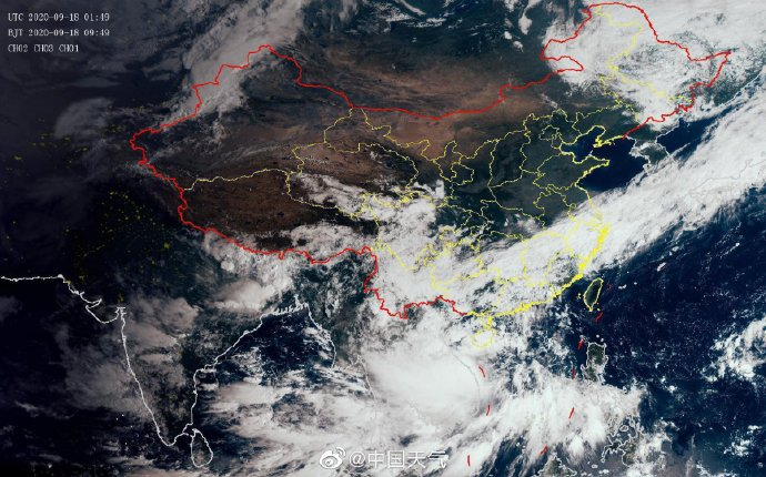 台风红霞(强热带风暴)在越南沿海登陆