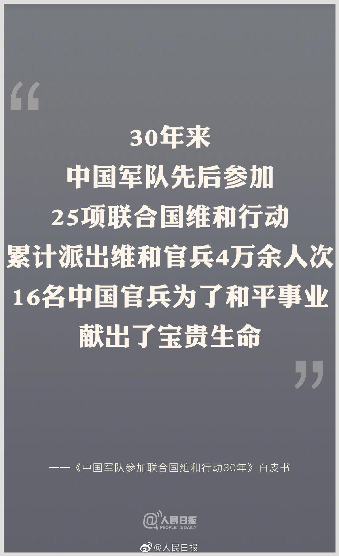 致敬!30年来16名中国维和官兵牺牲(附名单)图片