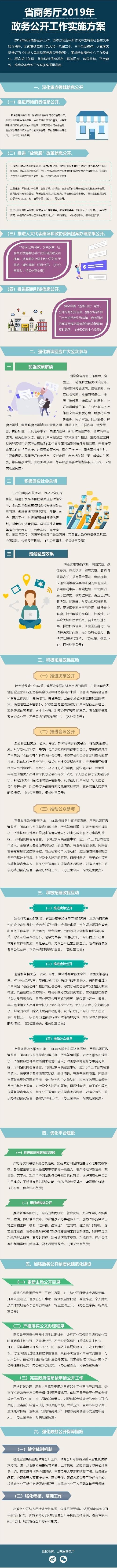 【图解】解读《省商务厅2019年政务公开实施方案》