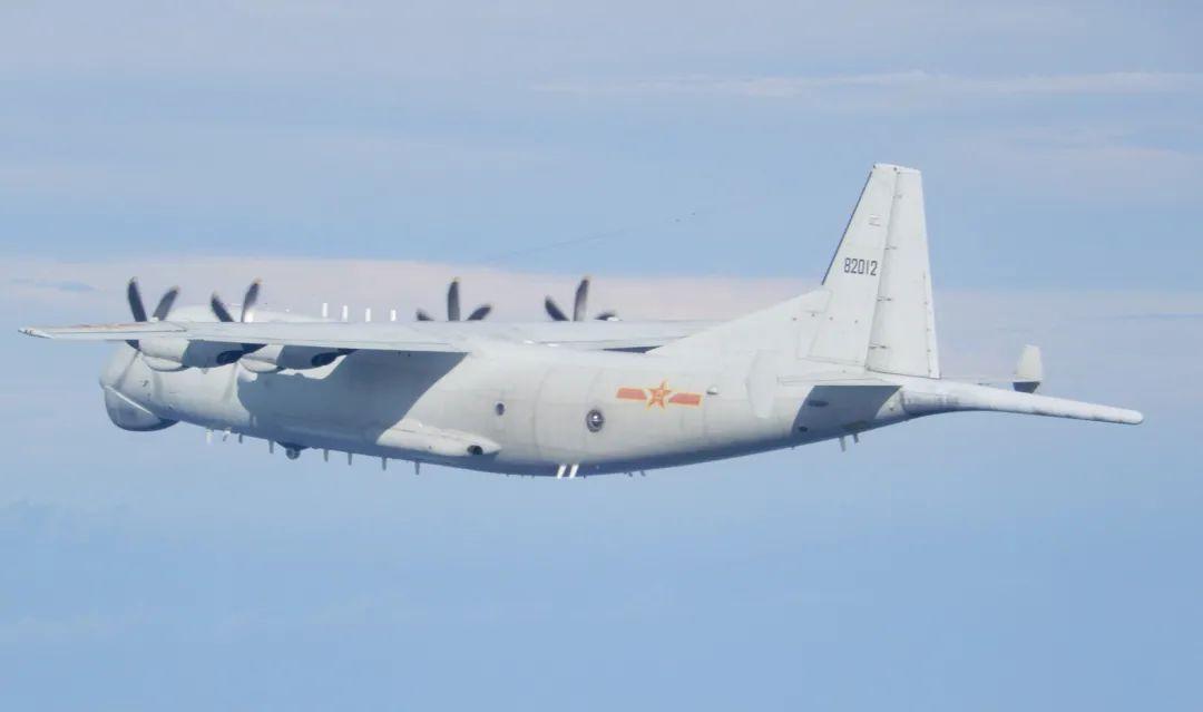 台湾防务部门发布的9月19日在台海出现的解放军运-8反潜机。图源:台防务部门官网