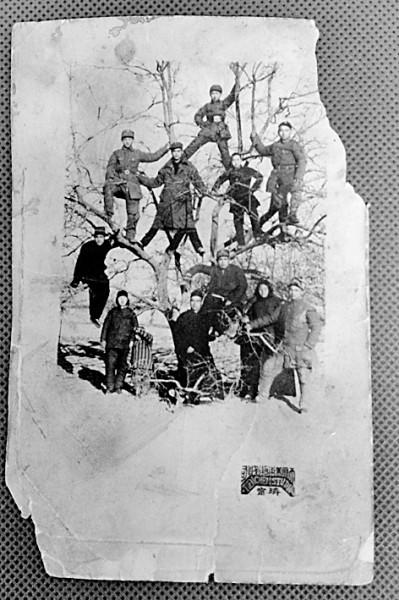 """""""一树的八路军""""老照片背后的抗战记忆图片"""