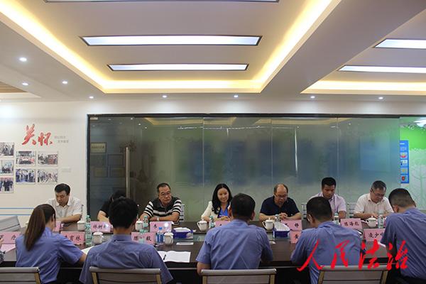 广西壮族自治区检察院到防城区开展工作调研