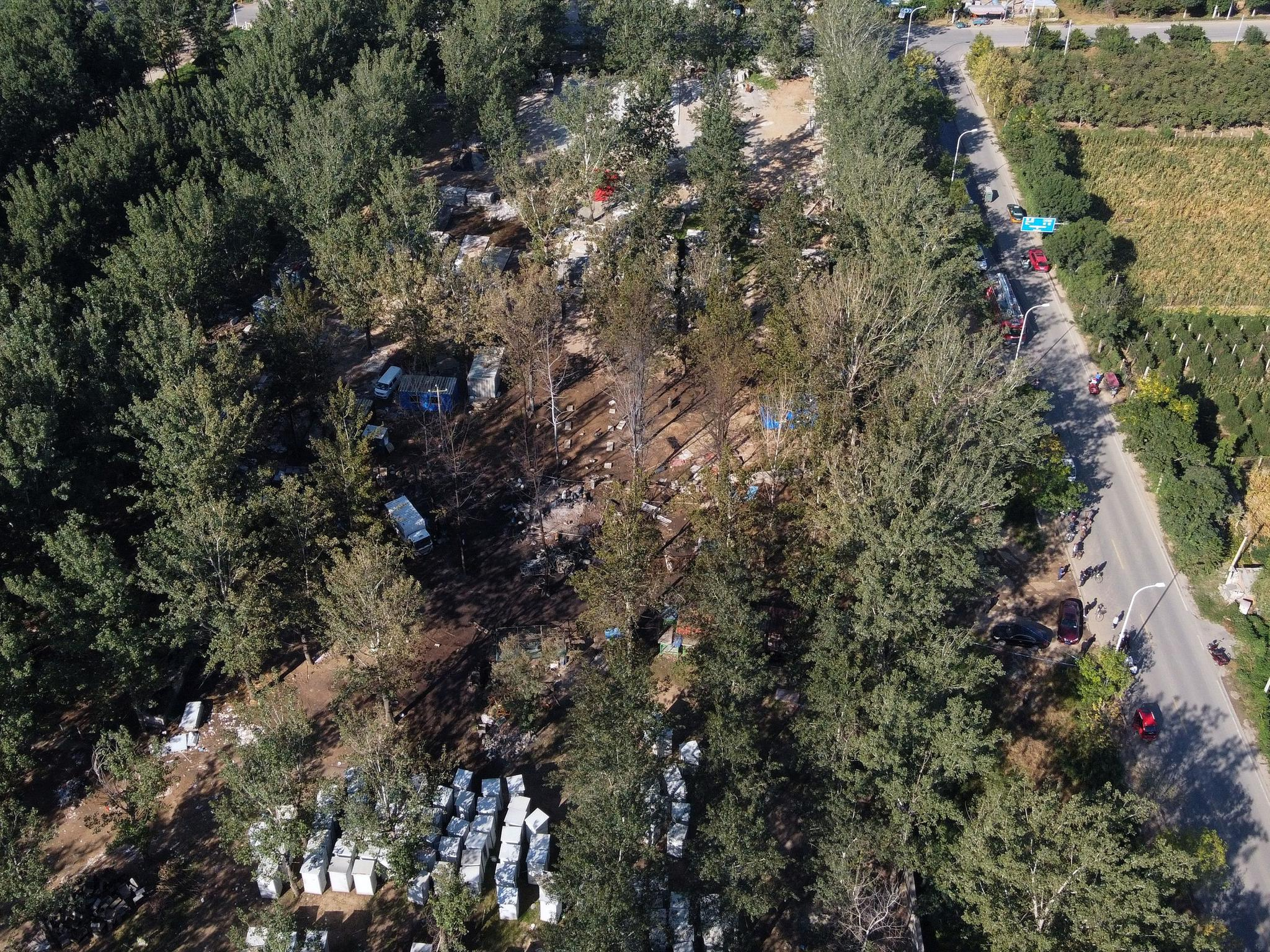 通州区宋庄镇港北村发生液化气罐爆燃事故,明火已扑灭无人员伤亡图片