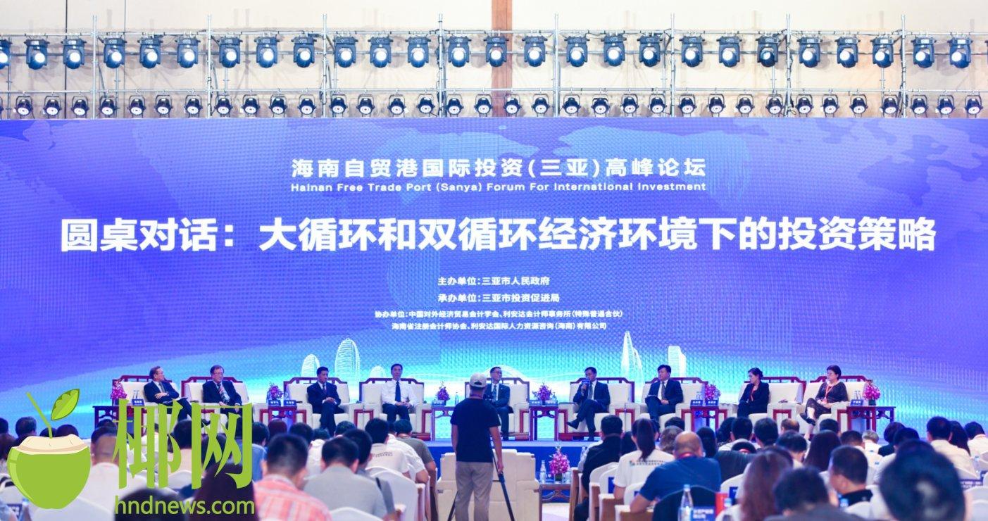 海南自贸港国际投资(三亚)高峰论坛圆桌峰会举行