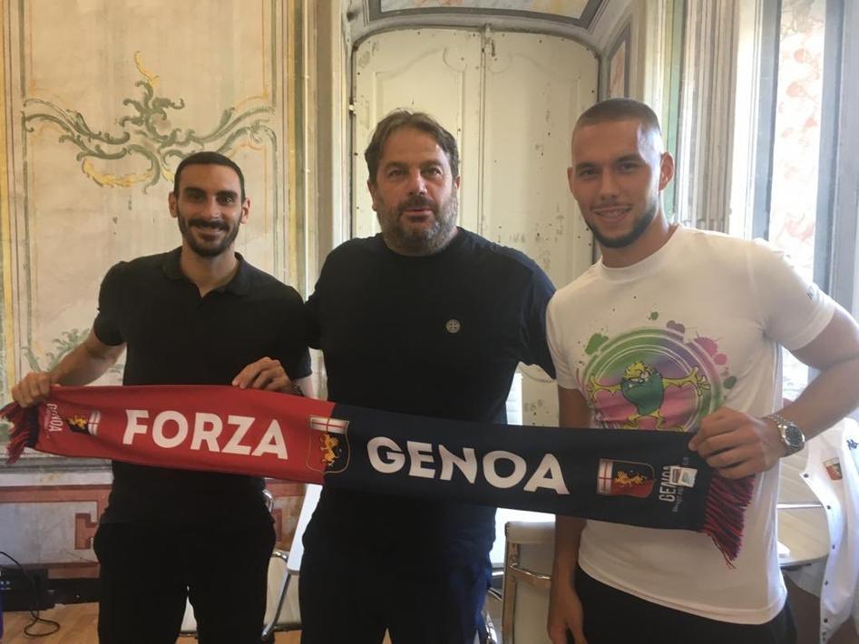 热那亚官方:皮亚察、扎帕科斯塔租借加盟