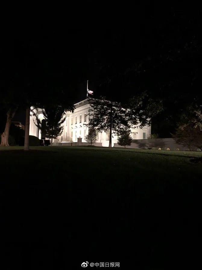 她过世后,白宫降半旗志哀图片