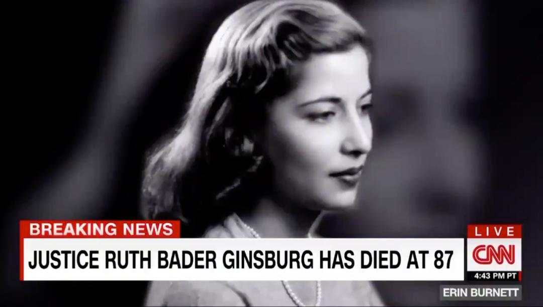 年轻时的金斯伯格。/CNN视频截图