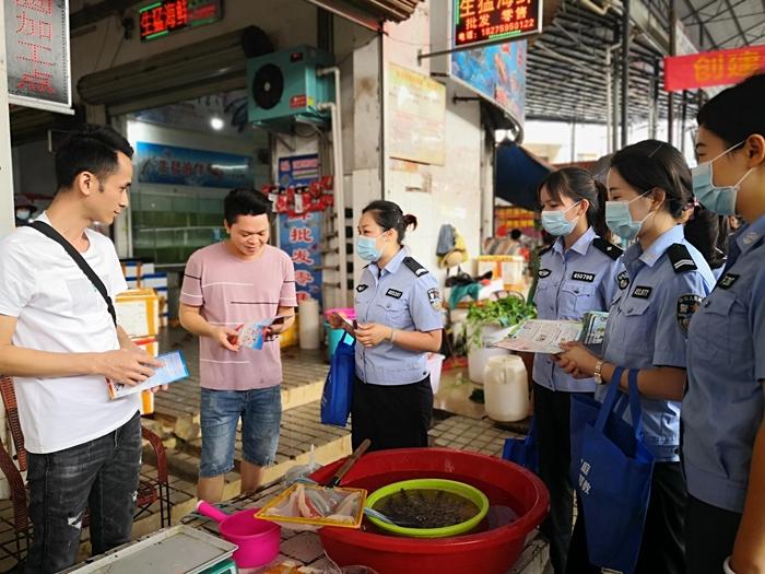 大新县司法局开展了一场扫黑除恶的宣传