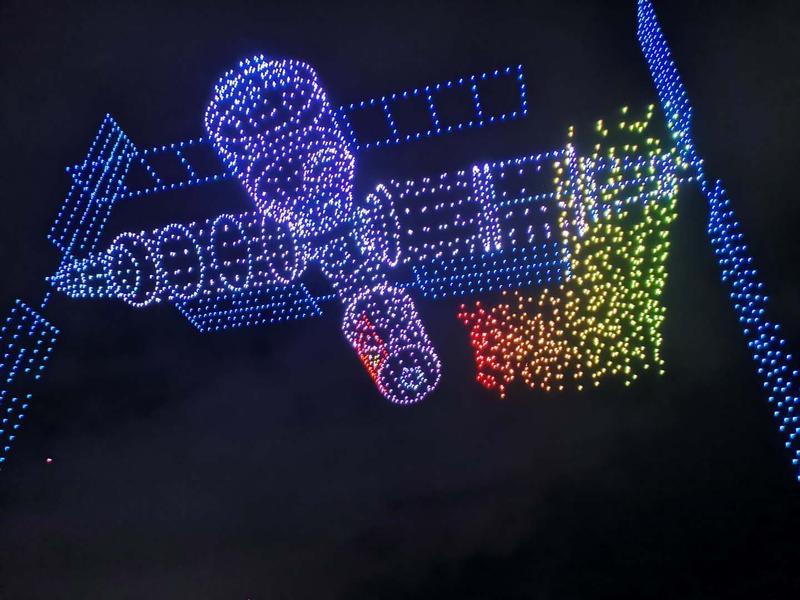 3051架无人机同时飞行,中国企业今晨打破世界纪录