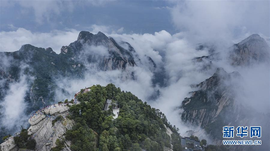 不识华山真面目 只缘云雾漫山中图片