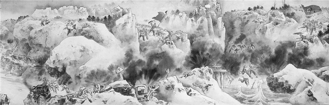 国画《抗美援朝战争画卷》赏析:雄浑壮阔撼心魄