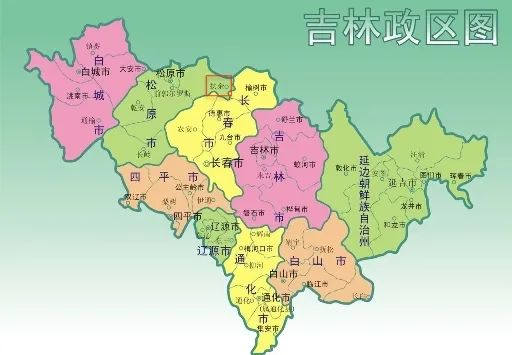 吉林政区图,红圈处为扶余市来源:吉林省政府官网