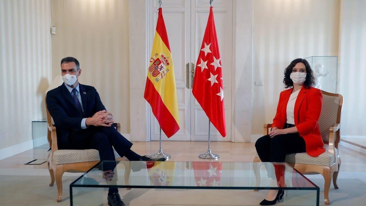 西班牙首相桑切斯会见马德里大区主席 商定防疫措施