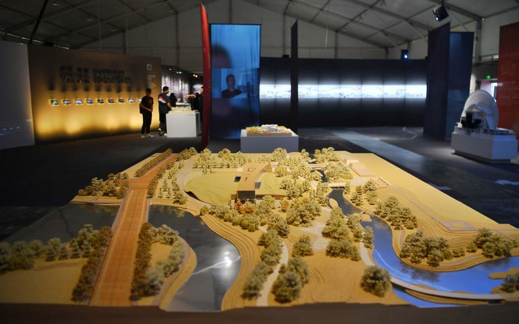 北京城市建筑双年展先导展开幕,路县故城遗址展示工程模型亮相图片