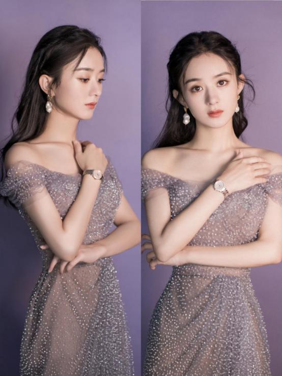 """赵丽颖也是女团身材,穿""""银河裙""""秀蝴蝶骨,仙气飘飘谁能不心动"""