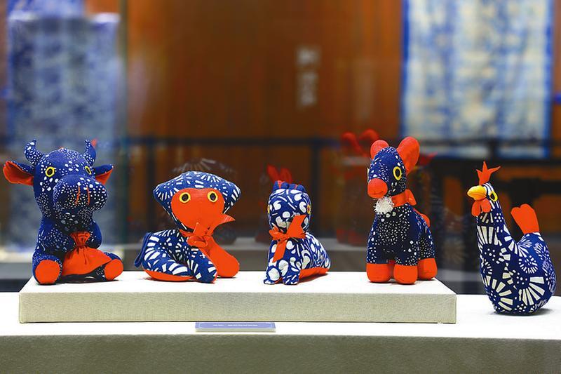 中国蓝印花布艺术展在盐开展