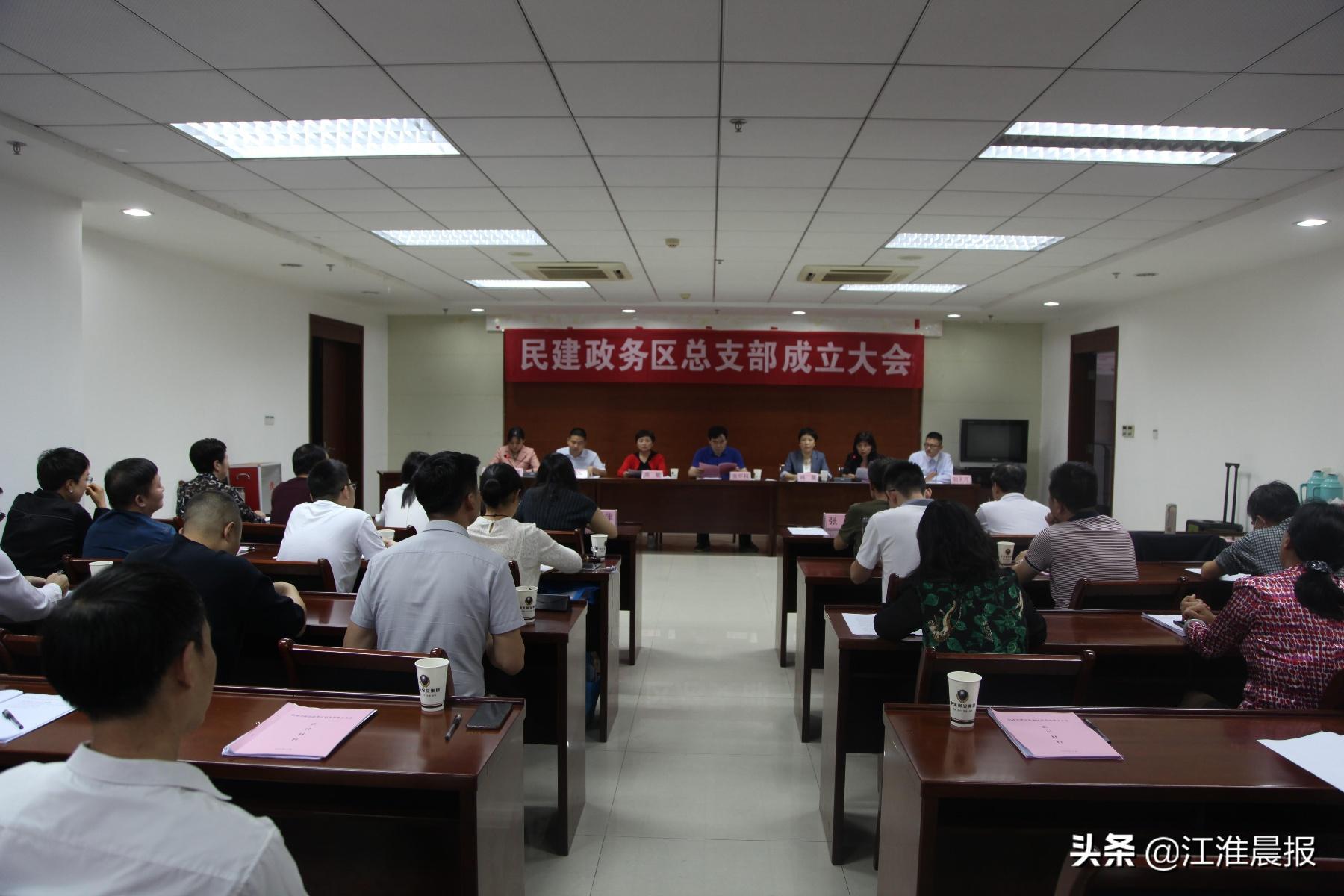 民建合肥市政务区总支部成立大会召开