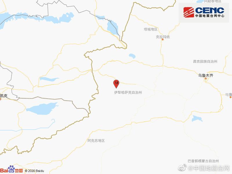 新疆伊犁州巩留县发生4.2级地震图片