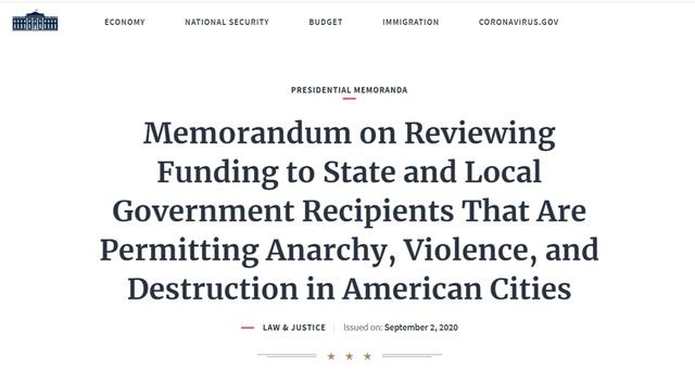 """美司法部称这三城市成""""无政府主义地区"""",包括纽约,特朗普目的实现了?"""