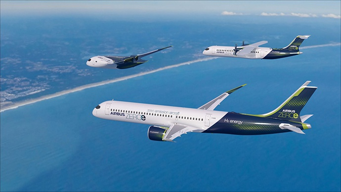空客公布零排放概念飞机:计划2035年投入使用